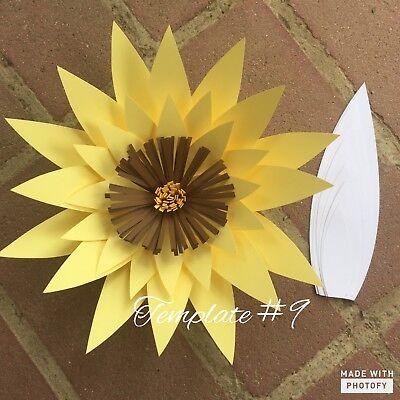 Hard Copy Paper Flower Template #9, DIY Paper Flower Backdrops, Flower Petal