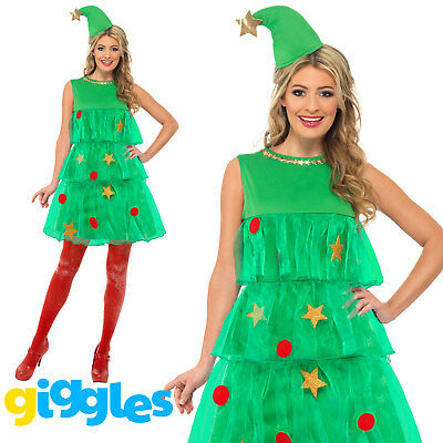 Womens Christmas Tree Costume (Christmas Tree Tutu Costume Womens Ladies Adults Sexy Xmas Fancy Dress)