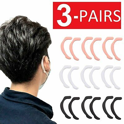 3 Pairs Universal Ear Hook Face Mask Ear Protection Pad Accessories