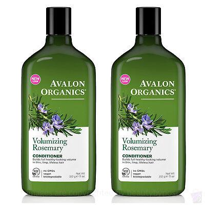 Avalon Volumizing Conditioner (PACK of 2 Avalon Organics volumizing ROSEMARY CONDITIONER, 325ml each)