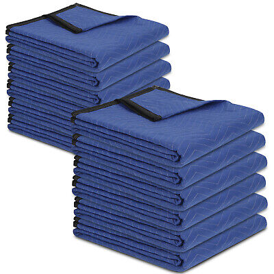 12 Moving Blankets 80 X 72 35lbdz Packing Quilted Shipping Furniture Pads