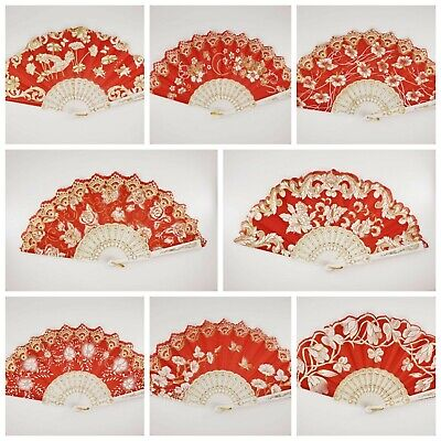 12 Pc/Assorted Spanish Style Red and Gold Glitter Floral Pattern For Wedding  - Red And Gold Wedding