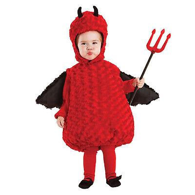 Infant Devil Costume (Baby Infant Toddler Little Devil Demon Halloween Belly Costume Tunic Horns)