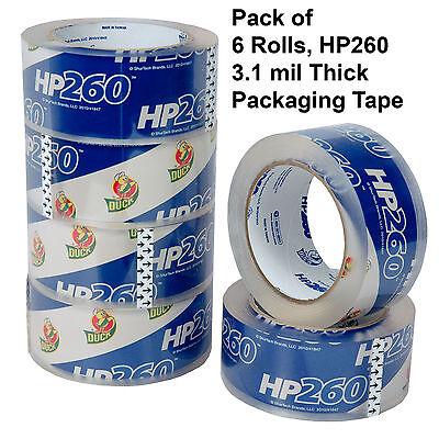 6 Rolls Duck Hp260 Clear 3.1 Mil Heavy Duty Packaging Tape 1.88 X 60 Yd.