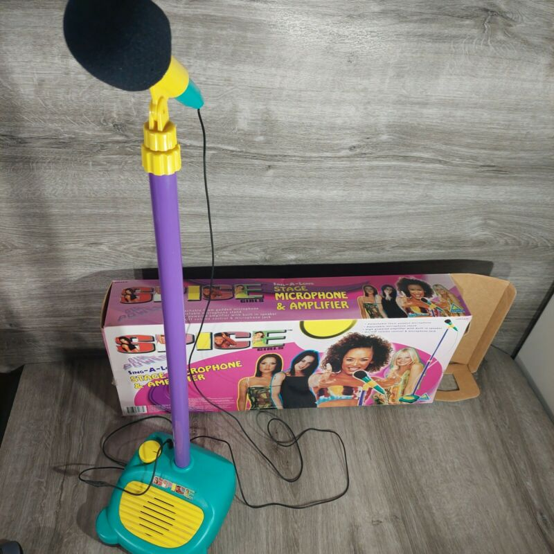RARE 1998 Spice Girls Sing-A-Long Stage Microphone & Amplifier Working *Read