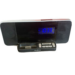 Insignia NS-CLIP02 AM/FM Clock Radio with Dock (30-pin) for IPhone & IPod
