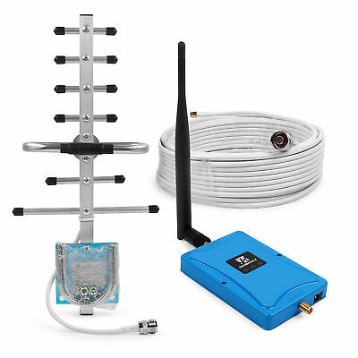 850/1900MHz Dual Band Cell Phone Signal Booster 72dB 2g 3g Repeater+Yagi Antenna