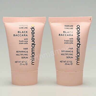 X2 NEW ~ Miriam Quevedo Black Baccara Hair Repairing & Multiplying Serum~Travel
