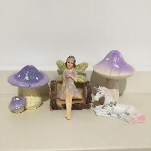 Fairy Accessories - Fairy - Log - Unicorn - Mushrooms Barden Ridge Sutherland Area Preview