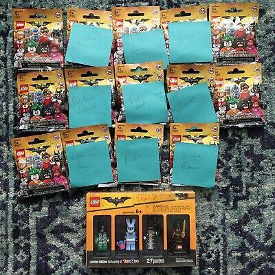 The LEGO BATMAN Movie Toys R Us Exclusive set + 14 Collectible Minifigures NIB