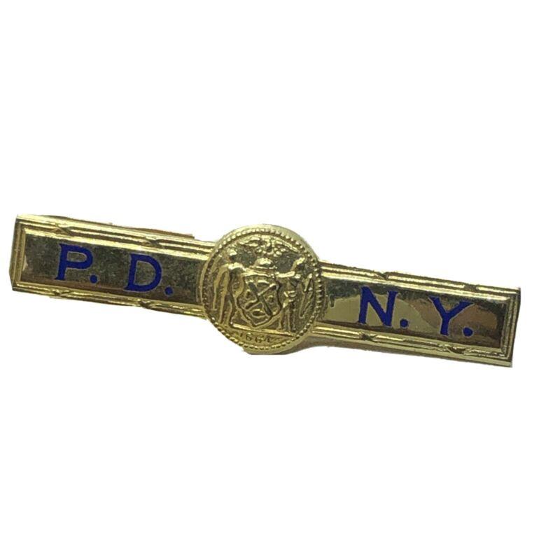 VINTAGE P.D.N.Y POLICE  TIE CLIP