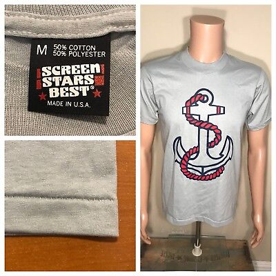 Vintage Screen Stars Best Tshirt Nautical Boating Anchor single stitch