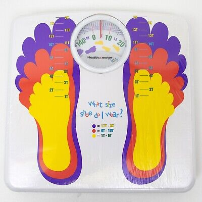 HEALTH-O-METER Kids Weight Scale Shoe Size Chart Sunbeam 2003
