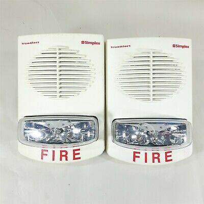 Lot Of 2 Simplex Fire And Alert Truealert Speaker Strobe 4903-9361