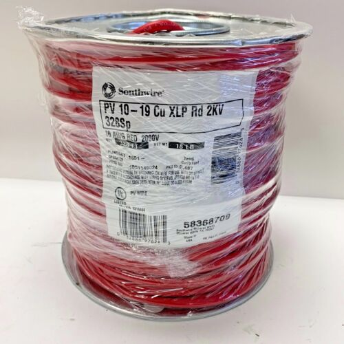 Southwire Red19 Strand Building Wire 10AWG Approx 1000 Ft 58368709