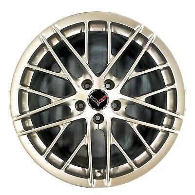 "19"" Chevrolet Corvette ZR1 Silver Wheel Rim Factory OEM C6 2009-2013 5458"