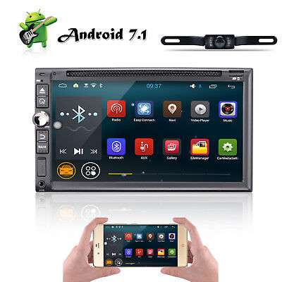"""HD 7"""" Double 2 Din Android 7.1 Car GPS Navi Radio Stereo DVD Player OBD 4G WiFi"""
