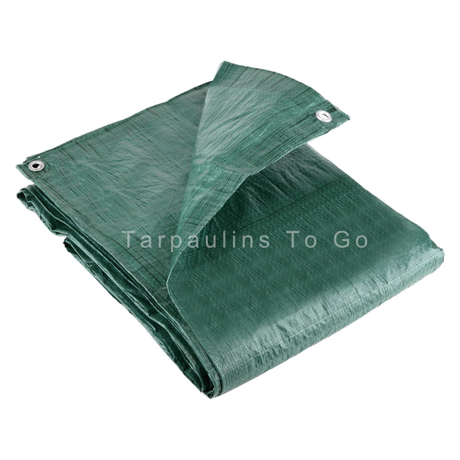 Waterproof Tarpaulin Ground Sheet Lightweight Camping Cover Tarp with Eyelets - 3