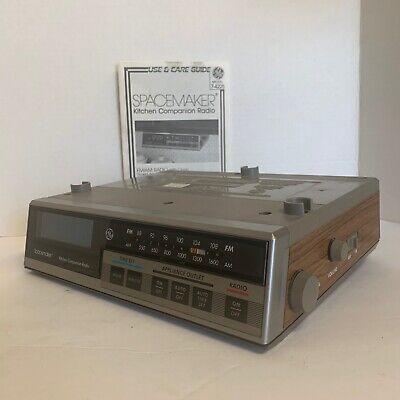 Vtg Spacemaker Kitchen Companion AM/FM Radio RV Camper Garage Shop 7-4225 Tested