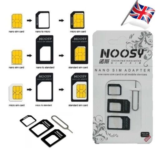 4 IN 1 PACK NANO TO MICRO & STANDARD SIM CARD ADAPTOR FOR VARIOUS MOBILE PHONES