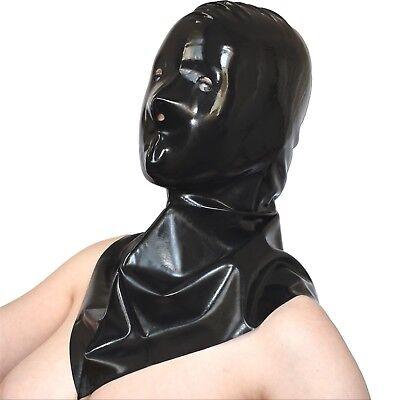 rubber LATEX Henker MASKE* Latexmaske* Gummi glänzend* Haube mit großem Kragen