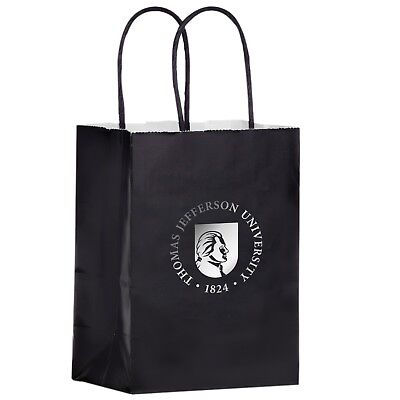100 Custom Gloss Color Twisted Paper Handle Shopper Bag Printed w/ Logo/ Message