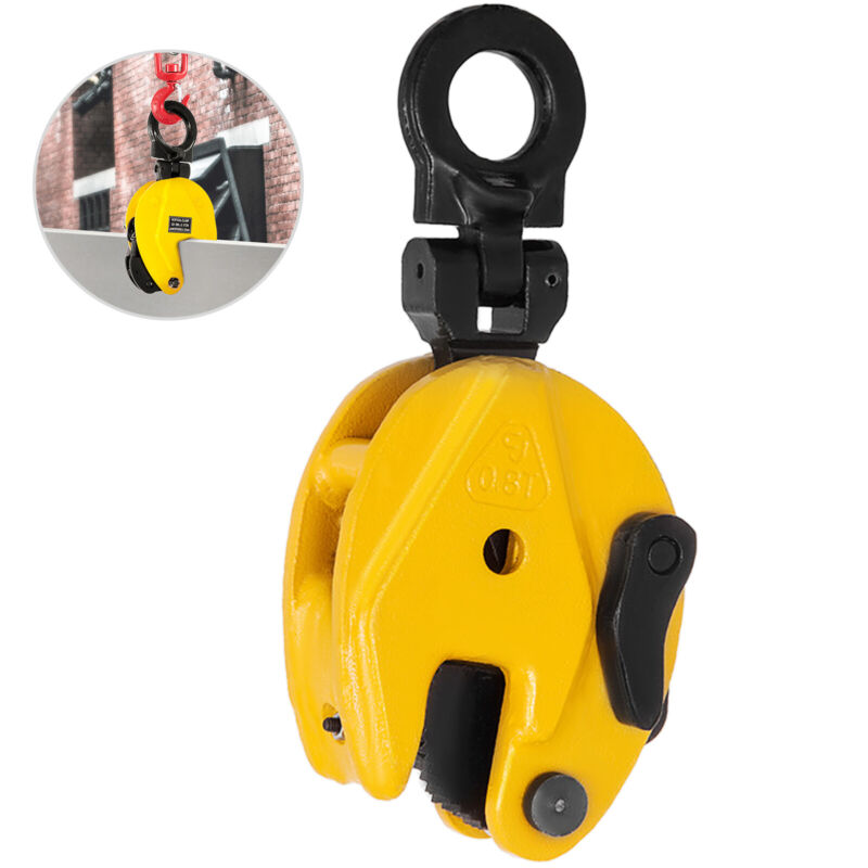 Industrial Vertical Plate Lifting Clamp Steel 1763 Lbs WLL