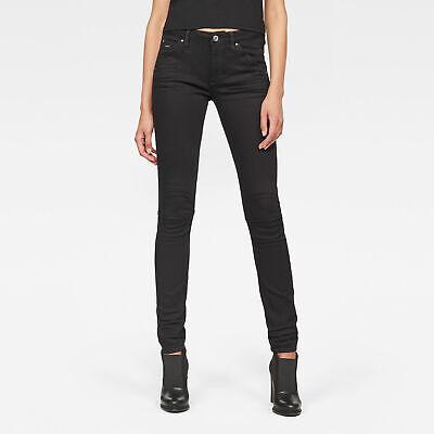 G-Star RAW Neu Damen 5622 Mid-Waist Skinny Jeans