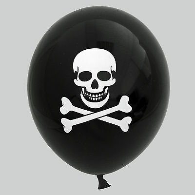 30 / 50 Luftballons Totenkopf für Halloween Party Dekoration Pirat Fasching ()
