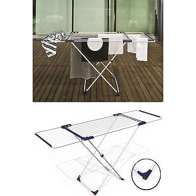 Wäscheständer ausziehbar Rollen Flügelwäschetrockner Deluxe 20 m Wäschetrockner