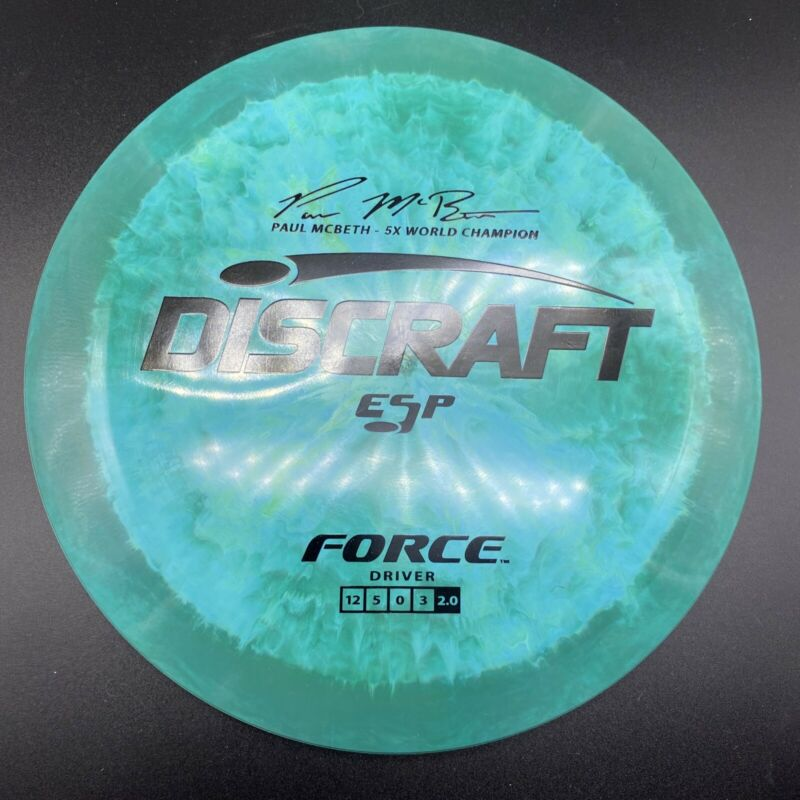 NEW Swirly Discraft ESP Force 173-174g Distance Driver Golf Disc