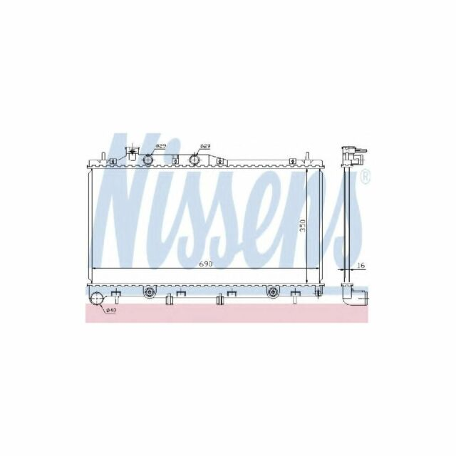 Genuine Nissens Engine Cooling Radiator - 64115