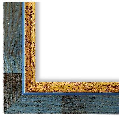 Bilderrahmen hell Blau Retro Vintage Holz Catanzaro 3,9 - NEU alle Größen ()
