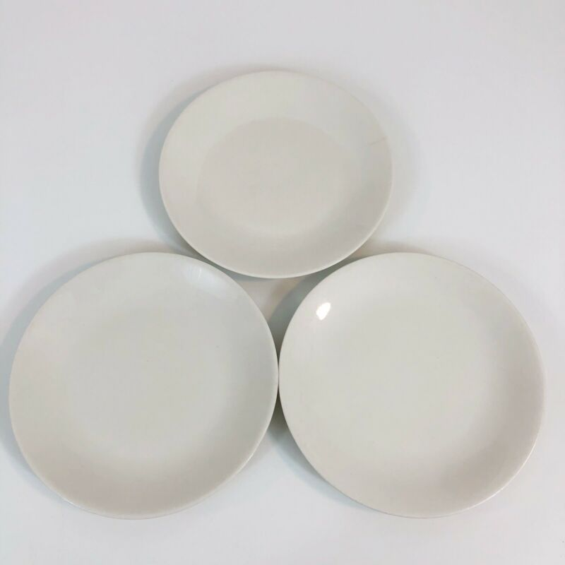 Iroqouis Bridal White Bread and Butter Plates Set of 3 Impromptu Ben Seibel