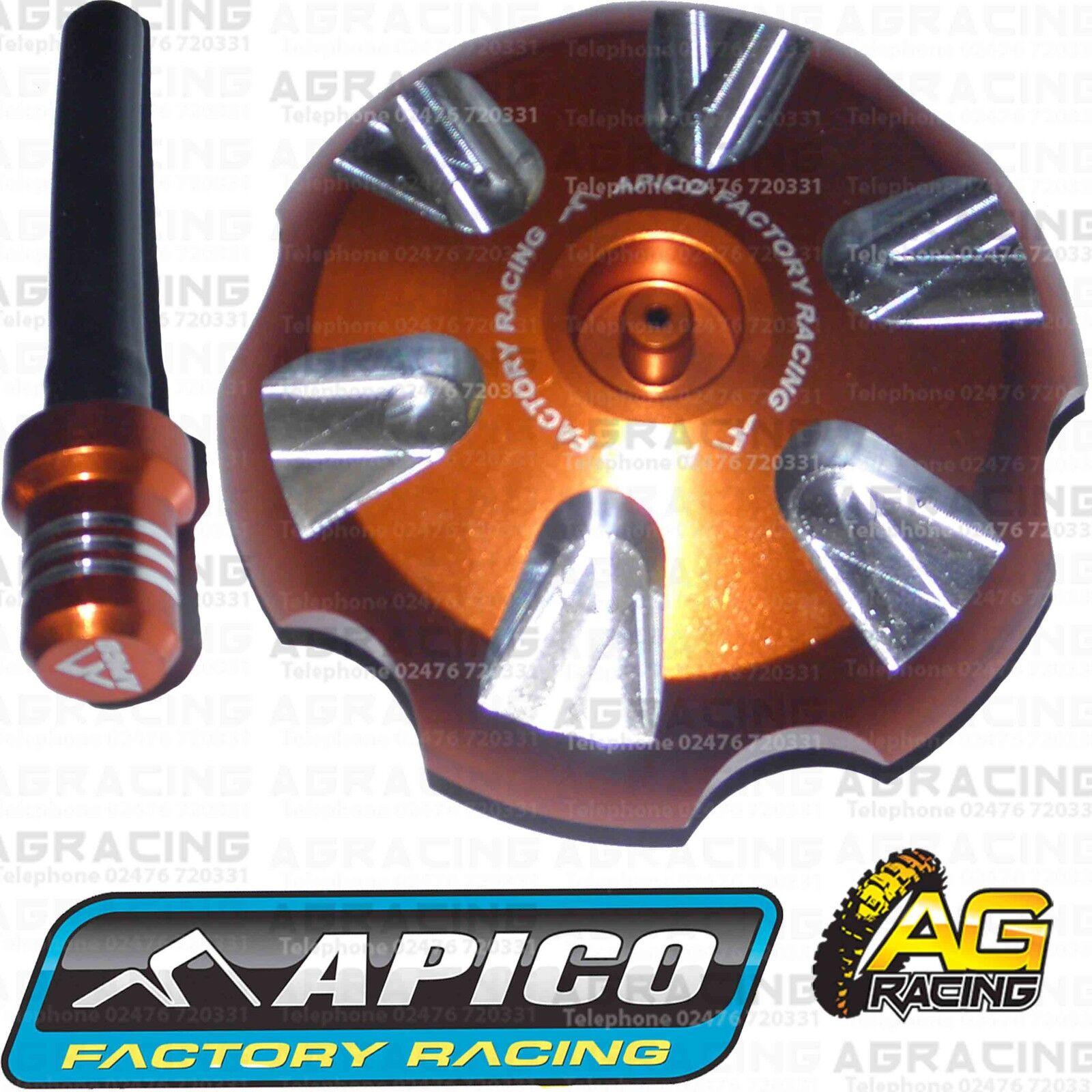 Apico Orange Alloy Fuel Cap Breather Pipe For KTM SX 125 2007 Motocross Enduro