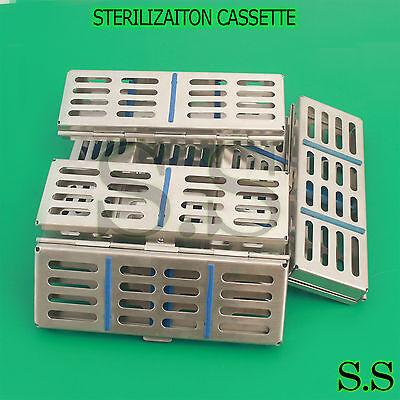 10 Dental Surgical Sterilization Cassette Racks Box For 5 Instruments 7 X 2.5