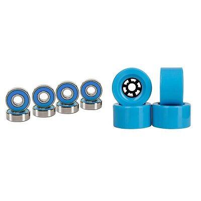 Cal 7 90mm 78A Longboard Flywheel Skateboard Light Blue Wheels + Abec7  Bearings