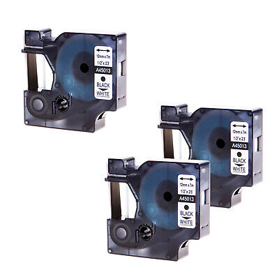 3x Compatible For Dymo D1 Label Tape 45013 S0720530 Label Manager Label Point