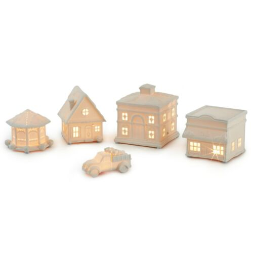 Hallmark Channel Musical Christmas Village With Light, Set of 5 New