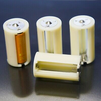 4 x Batteriehalter für je 3 AA Batterien auf Mono D Adapter Konverter Akku 1,5V