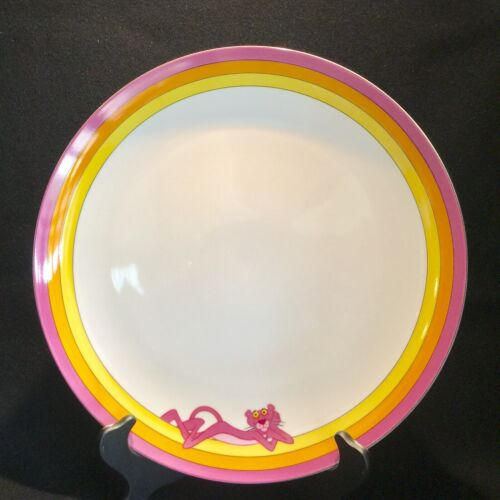 """VHTF Royal Orleans PINK PANTHER Serving Plate Platter Round 12"""" Dia. RARE!"""