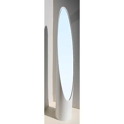 Specchiera Specchio da terra a unghia in abs BIANCO