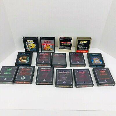 Atari 2600 Cartridge Lot Pac Man Donkey Kong Gorf Star Ship Combat Casino X15