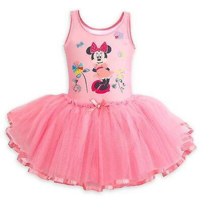 Disney Store Minnie Mouse Deluxe Leotard with Tutu for Girls Costume Fancy - Tutu Stores