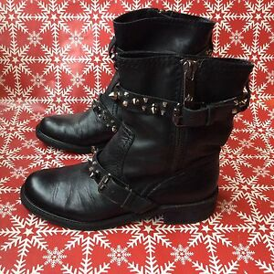 Sam Edelman Adele Ankle Boots 6 M Studded Black Leather $200