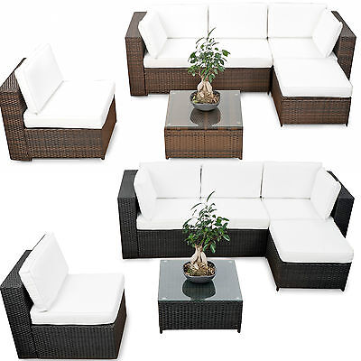 18tlg XXL Polyrattan Gartenmöbel Garten Eck Lounge Möbel Set Sitzgruppe  Garnitur
