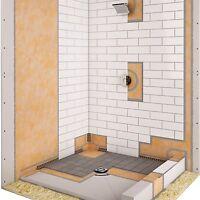 Schluter shower system custom made shower