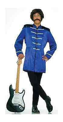 60's BRITISH EXPLOSION BLUE SGT PEPPER JACKET BEATLES ADULT HALLOWEEN COSTUME
