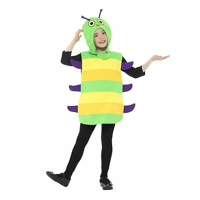 Boys Girls School Caterpillar Insect Hungry Bug Book Week Fancy Dress Costume - Boy Bug Costume