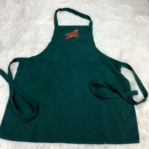 Orange Julius Green Embroidered Logo Apron Role-play Costume